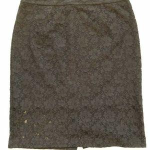 Halogen Black Lace Pencil Skirt Women's Skirt 14
